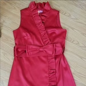 Beautiful Eliza J  party dress in fire engine red